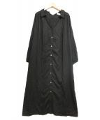 SLOBE IENA(イエナスローブ)の古着「両Vネックシャツワンピース」|ブラック