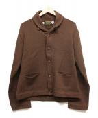 SKOOKUM(スクーカム)の古着「ショールカラーカーディガン」|ブラウン