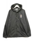 WIND AND SEA(ウィンダンシー)の古着「フーデッドコーチジャケット」|ブラック