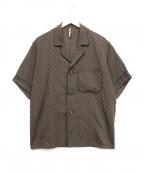 ms braque(エムズ ブラック)の古着「パジャマシャツ」 ブラウン