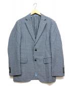 LIMITED EDITION(リミテッドエディション)の古着「リネンブレンドTLDジャケット」|ブルー×ネイビー
