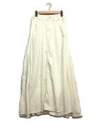 woadblue(ウォードブルー)の古着「ホワイトデニムロングスカート」|ホワイト
