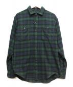 THE NORTH FACE(ザノースフェイス)の古着「チェックシャツ」|グリーン