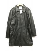 MNG(エムエヌジー)の古着「ラムレザーコート」|ブラック