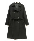 OLD ENGLAND(オールドイングランド)の古着「アンゴラメルトンコート」|ブラック