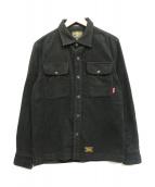 WTAPS(ダブルタップス)の古着「スウェードシャツジャケット」|ブラック