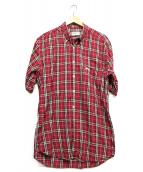 Burberrys(バーバリーズ)の古着「H/Sノバチェックシャツ」 レッド