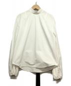 IRENE(アイレネ)の古着「ベルトカラーブッファンブラウス」|ホワイト