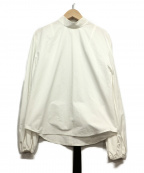 IRENE(アイレネ)の古着「ベルトカラーブッファンブラウス」 ホワイト