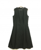 theory()の古着「LIGHT SAXONY2 SL SEAMED DRESS」|ブラック