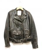 Lisiere(リジェール)の古着「レザーライダースジャケット」|ブラック