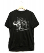 ANREALAGE(アンリアエイジ)の古着「S/S Tシャツ」|ブラック