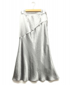 FRAY ID(フレイアイディー)の古着「サイドBサテンナロースカート」 ラベンダー
