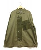 OAMC(オーエーエムシー)の古着「異素材切り替えシャツ」|グリーン