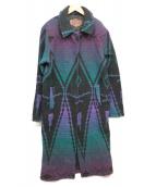 WOOLRICH(ウールリッチ)の古着「民族柄コート」|パープル