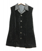 yohji yamamoto+Noir(ヨウジヤマモトプリュスノアール)の古着「ベロアベスト」|ブラック
