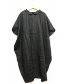 mizuiro-ind(ミズイロインド)の古着「リネンブラウスワンピース」|ブラック