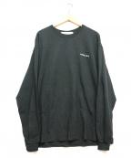 LONELY/論理(ロンリー)の古着「ロングスリーブカットソー」|ブラック