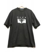 MUZE(ミューズ)の古着「オーバーサイズフォトTシャツ」|ブラック