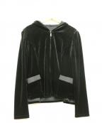Rene basic(ルネベーシック)の古着「ベロアジップパーカー」 ブラック