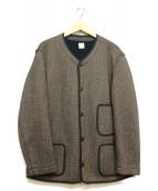 ANATOMICA(アナトミカ)の古着「BEACH CLOTH CARDIGAN」|ブラウン