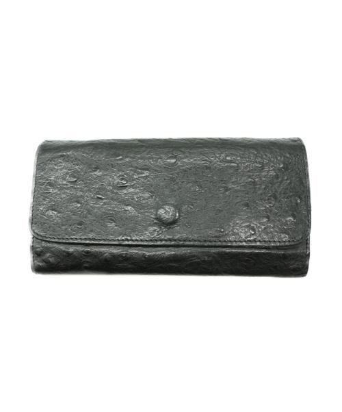IL BISONTE(イルビゾンテ)IL BISONTE (イルビゾンテ) オーストリッチ長財布 ブラックの古着・服飾アイテム