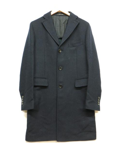 TAGLIATORE(タリアトーレ)TAGLIATORE (タリアトーレ) チェスターコート ネイビー サイズ:44の古着・服飾アイテム