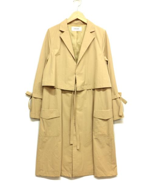 PINORE(ピノーレ)PINORE (ピノーレ) ライトコート ベージュ サイズ:38の古着・服飾アイテム