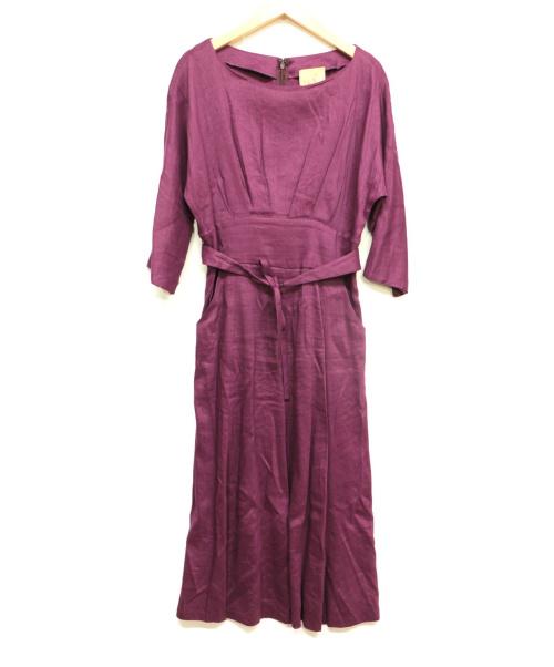 Sybilla(シビラ)Sybilla (シビラ) リネンタックワンピース パープル サイズ:Mの古着・服飾アイテム