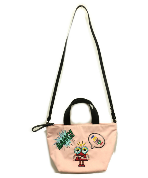FENDI(フェンディ)FENDI (フェンディ) MINI SHOPPING BABY ピンク 8BH342の古着・服飾アイテム