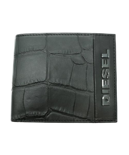 DIESEL(ディーゼル)DIESEL (ディーゼル) 2つ折り財布 ブラック HIRESH S X07485の古着・服飾アイテム