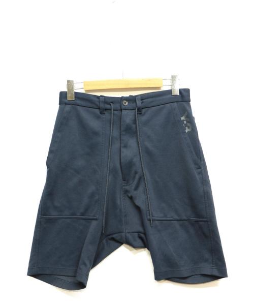 Y-3(ワイスリー)Y-3 (ワイスリー) サルエルハーフパンツ ネイビー サイズ:XSの古着・服飾アイテム