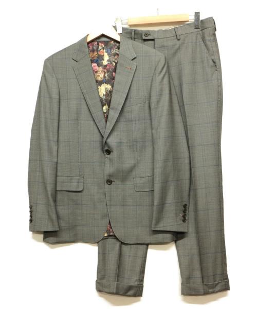 Paul Smith(ポールスミス)Paul Smith (ポールスミス) セットアップスーツ グレー サイズ:L チェックの古着・服飾アイテム
