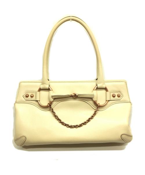 GUCCI(グッチ)GUCCI (グッチ) ハンドバッグ アイボリー 114913 ■の古着・服飾アイテム