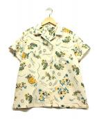 ()の古着「オープンカラーシャツ」 アイボリー×イエロー