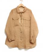 EMMEL REFINES(エメル リファインズ)の古着「ウォッシャブルシアーブラウス」|ブラウン