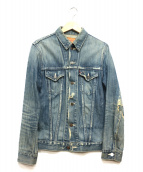 LEVIS(リーバイス)の古着「リペア加工デニムジャケット」|インディゴ