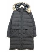 AIGLE(エーグル)の古着「ファー付サイドジップダウンコート」|ブラック
