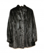 ノーブランド(ノーブランド)の古着「ミンクコート」 ブラック