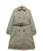 KUMIKYOKU(クミキョク)の古着「トレンチ型ダウンコート」|グレー