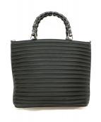 GUCCI(グッチ)の古着「バンブーハンドルハンドバッグ」|ブラック