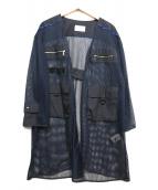 la sric(ラ・スリック)の古着「メッシュミリタリージャケット」 ネイビー