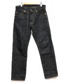 MOMOTARO JEANS(モモタロー ジーンズ)の古着「銅丹特濃ナローテーパード」|インディゴ