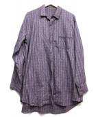 YS for men(ワイズフォーメン)の古着「ロングシャツ」|パープル