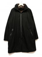 DESCENTE(デサント)の古着「スタンドカラーインフードスタイリッシュコート」 ブラック