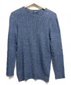 Drumohr(ドルモア)の古着「リネン混ニット」|ブルー