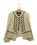 TARA JARMON(タラジャーモン)の古着「デザインリネンジャケット」|ベージュ