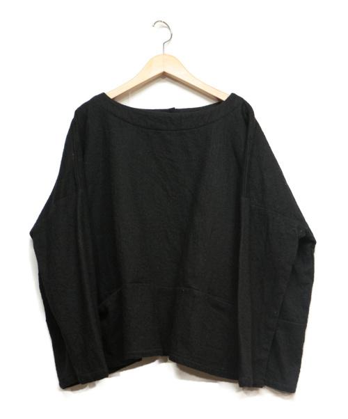 nest robe(ネストローブ)nest robe (ネストローブ) ワイドニット ブラック サイズ:記載なしの古着・服飾アイテム