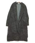 MaxMara(マックスマーラ)の古着「カシミヤ混ガウンコート」|ブラック
