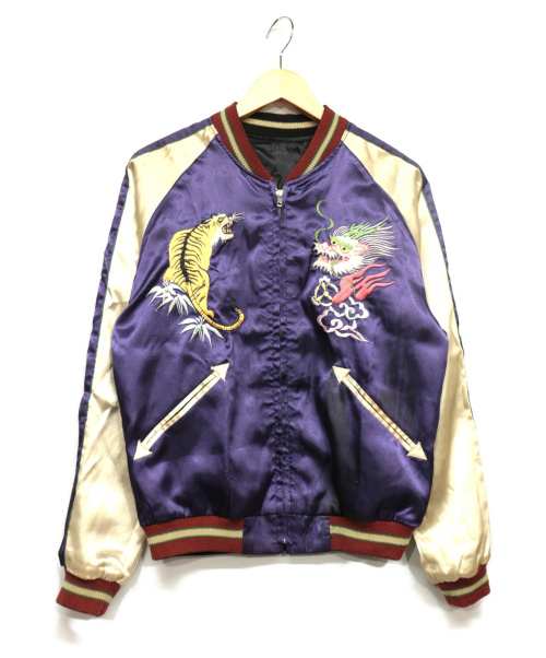 東洋エンタープライズ(トウヨウエンタープライズ)東洋エンタープライズ (トウヨウエンタープライズ) スカジャン ブラック×パープル サイズ:Sの古着・服飾アイテム